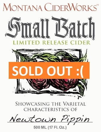 Small Batch Limited Release Cider